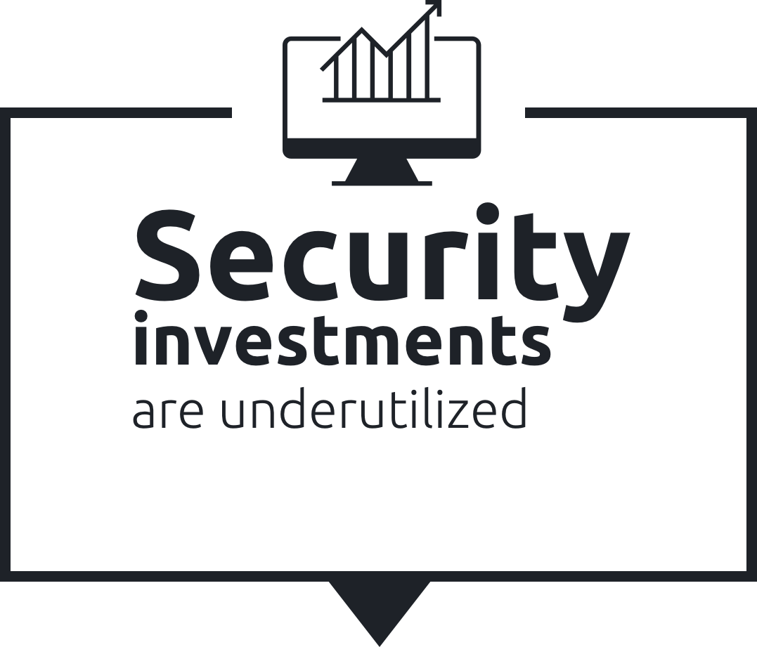 Security investments are underutilized