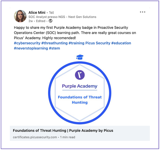 Purple Academy success