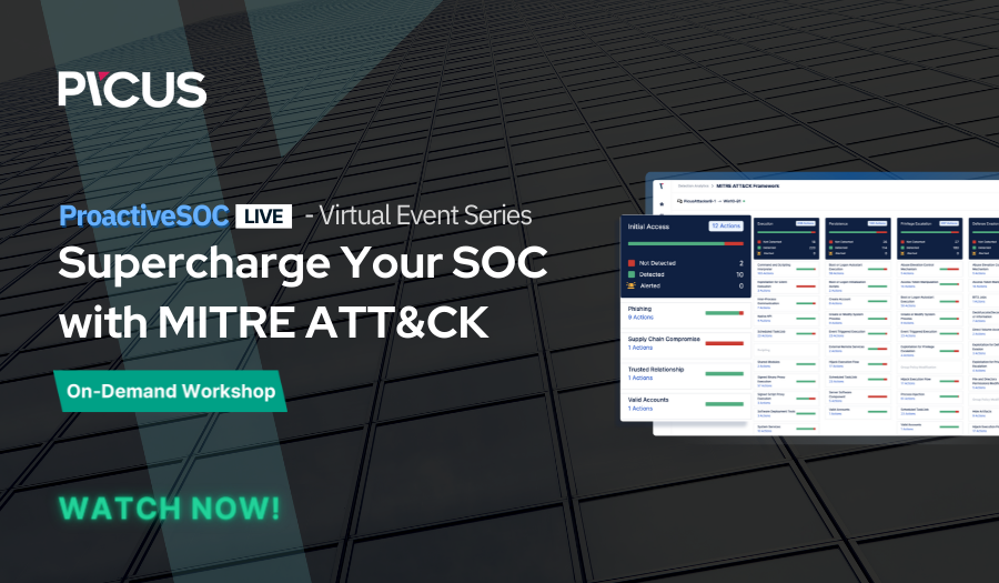 On Demand: Supercharge your SOC with MITRE ATT&CK